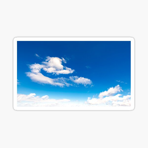 amazing cloud formations on a blue sky Sticker