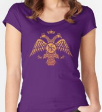 Byzantine Eagle Symbol Flag Women's Fitted Scoop T-Shirt