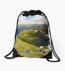 beautiful landscape of Romanian mountains Drawstring Bag