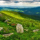 panorama of Runa mountain with boulders on hills by mike-pellinni
