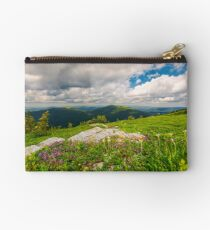 wild herbs among the rocks in summer mountains Studio Pouch