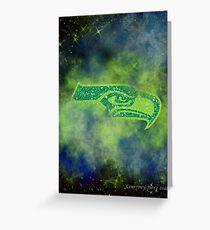 Galactic Seahawks Fan Art Greeting Card