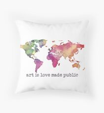art is love made public Throw Pillow