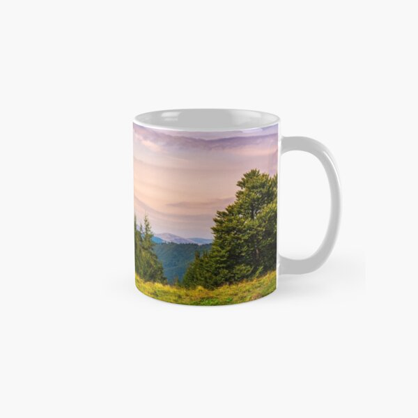 forested hills over the Brustury valley at dusk Classic Mug