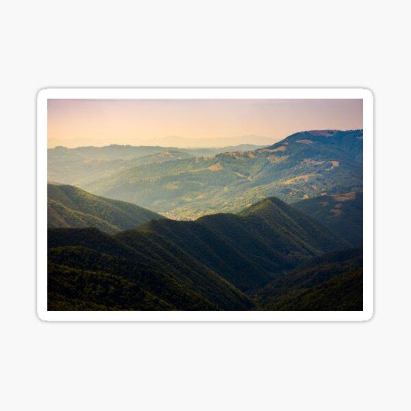 beautiful rolling hills of Carpathian mountains Sticker