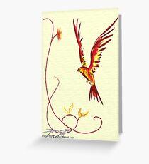 Birthday Bird: a littler phoenix Greeting Card