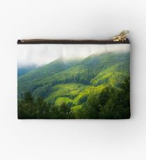mountain forest in morning fog Studio Pouch