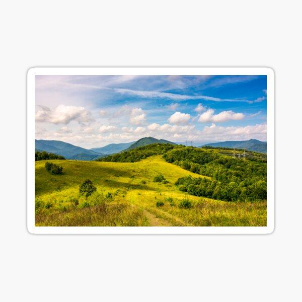 lovely mountainous countryside in autumn Sticker