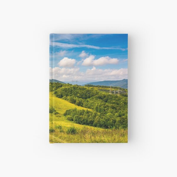 lovely mountainous countryside in autumn Hardcover Journal