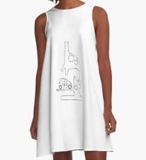 Microscope, electric car. A-Line Dress