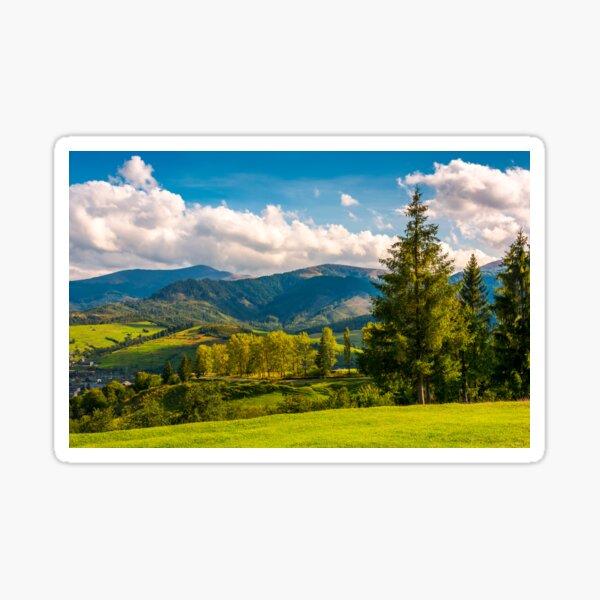 beautiful landscape in mountains Sticker