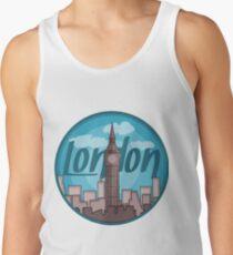London Skyline Sticker Tank Top