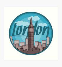 London Skyline Sticker Art Print