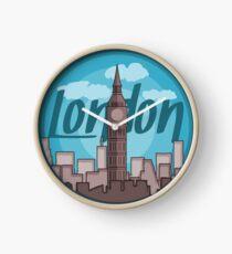 London Skyline Sticker Clock
