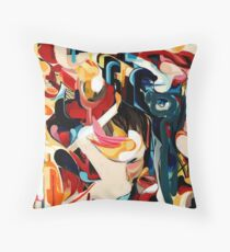 Expressive Abstract Composition painting  Floor Pillow