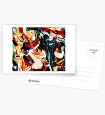 Expressive Abstract Composition painting  Postcards