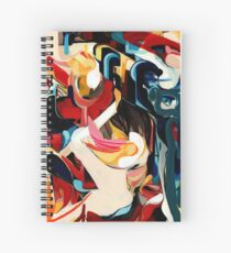 Expressive Abstract Composition painting  Spiral Notebook