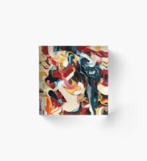 Expressive Abstract Composition painting  Acrylic Block