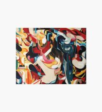 Expressive Abstract Composition painting  Art Board Print