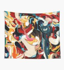 Expressive Abstract Composition painting  Wall Tapestry