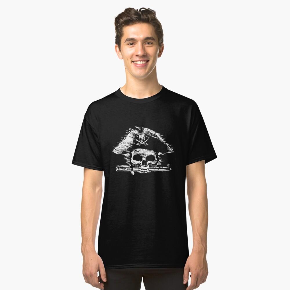 Pirates Adventure Mallorca Merchandise Skull Black Classic T-Shirt Front