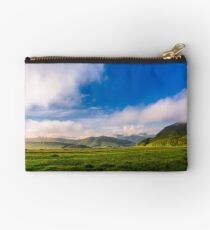 beautiful sunrise in mountains Studio Pouch
