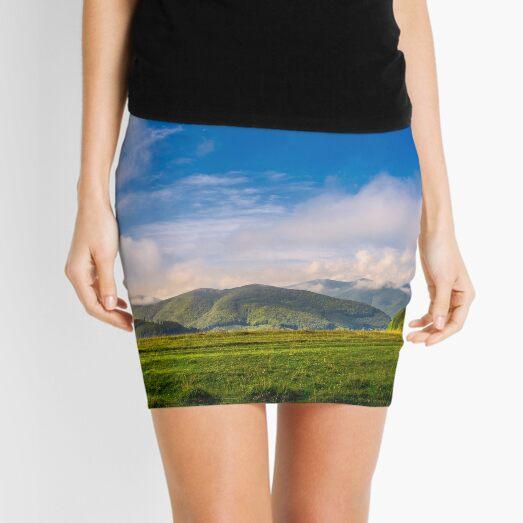 beautiful sunrise in mountains Mini Skirt