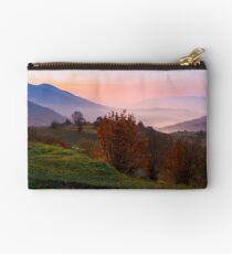 gorgeous purple dawn in mountains Studio Pouch