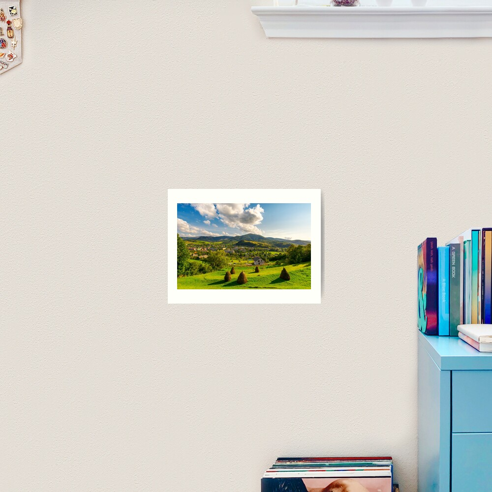 beautiful rural landscape in mountains Art Print