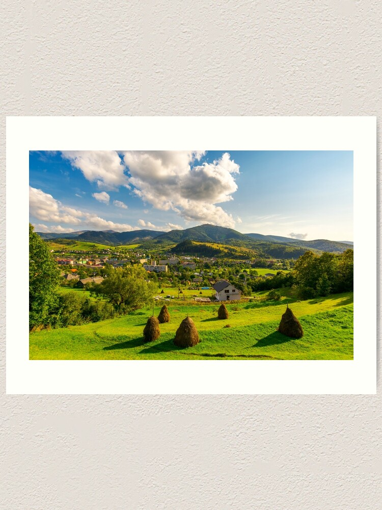 Alternate view of beautiful rural landscape in mountains Art Print