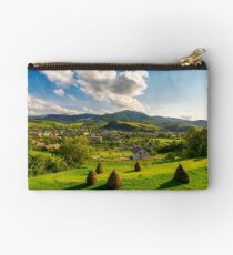 beautiful rural landscape in mountains Studio Pouch
