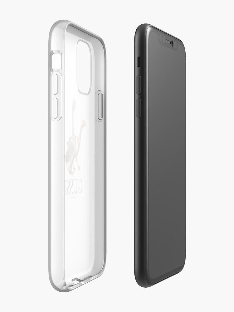 coque moshi - Coque iPhone «Gussi - Nouvelle Collection 2018 - Oie - Noir sur Blanc», par Nexted