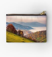 beautiful dawn in mountainous autumn landscape Studio Pouch