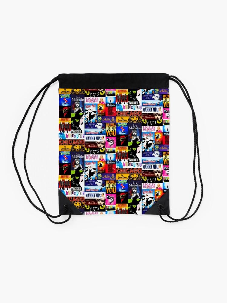 Alternate view of Musicals Drawstring Bag