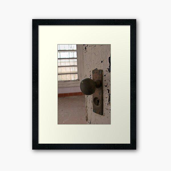Doorknob Framed Art Print