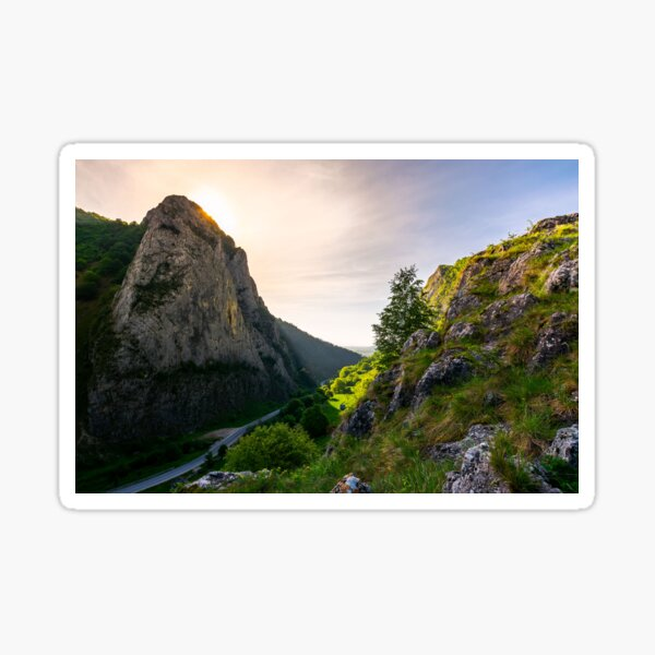 road in Canyon of Trascau mountains Sticker