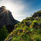 sunrise in Canyon of Trascau mountains by mike-pellinni