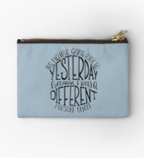 Alice in Wonderland Quote Studio Pouch