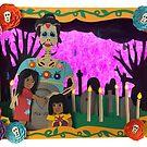 Day of the Dead Paper Art by Cynthia De La Torre