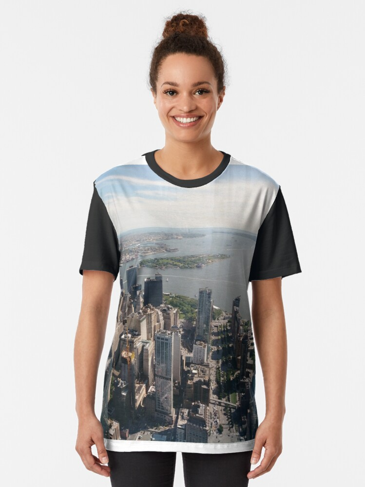 Alternate view of Manhattan, #Manhattan, New York, #NewYork, NYC, #NYC, New York City, #NewYorkCity  Graphic T-Shirt