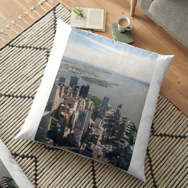 Manhattan, #Manhattan, New York, #NewYork, NYC, #NYC, New York City, #NewYorkCity Floor Pillow