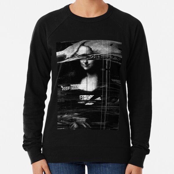 Mona Lisa Glitch Lightweight Sweatshirt