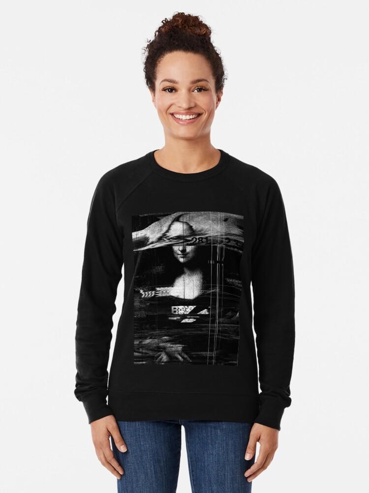 Alternate view of Mona Lisa Glitch Lightweight Sweatshirt