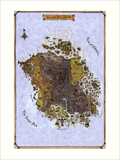 Vvardenfell Map Morrowind Elder Scrolls Old School Map For An