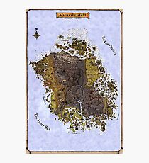 Vvardenfell Map, Morrowind, Elder Scrolls - Old School Map for An Awesome Game  Photographic Print