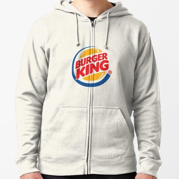Logotipo de Burger King 4k Sudadera con capucha y cremallera