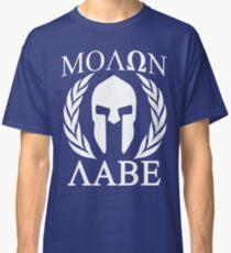 Molon Labe Grunge Spartan Funny Geek Nerd Classic T-Shirt
