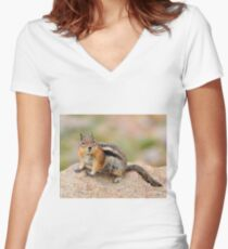Furry friend Women's Fitted V-Neck T-Shirt