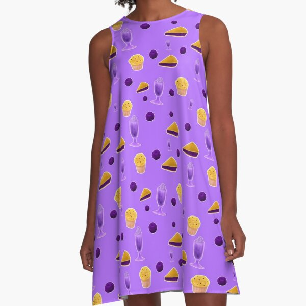 You can never have enough Blueberries! A-Line Dress