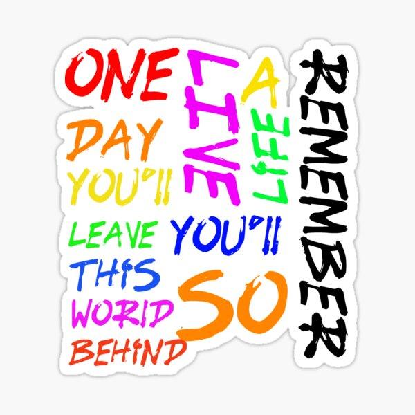 Avicii Live A Life You'll Remember  Sticker